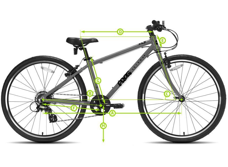 Lekki rower dla dziecka Frog 78 na kołach 26 cali